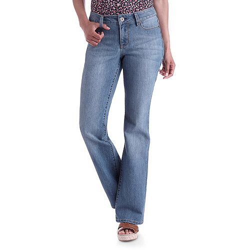 Faded Glory Women's Basic Bootcut Jeans, Petite