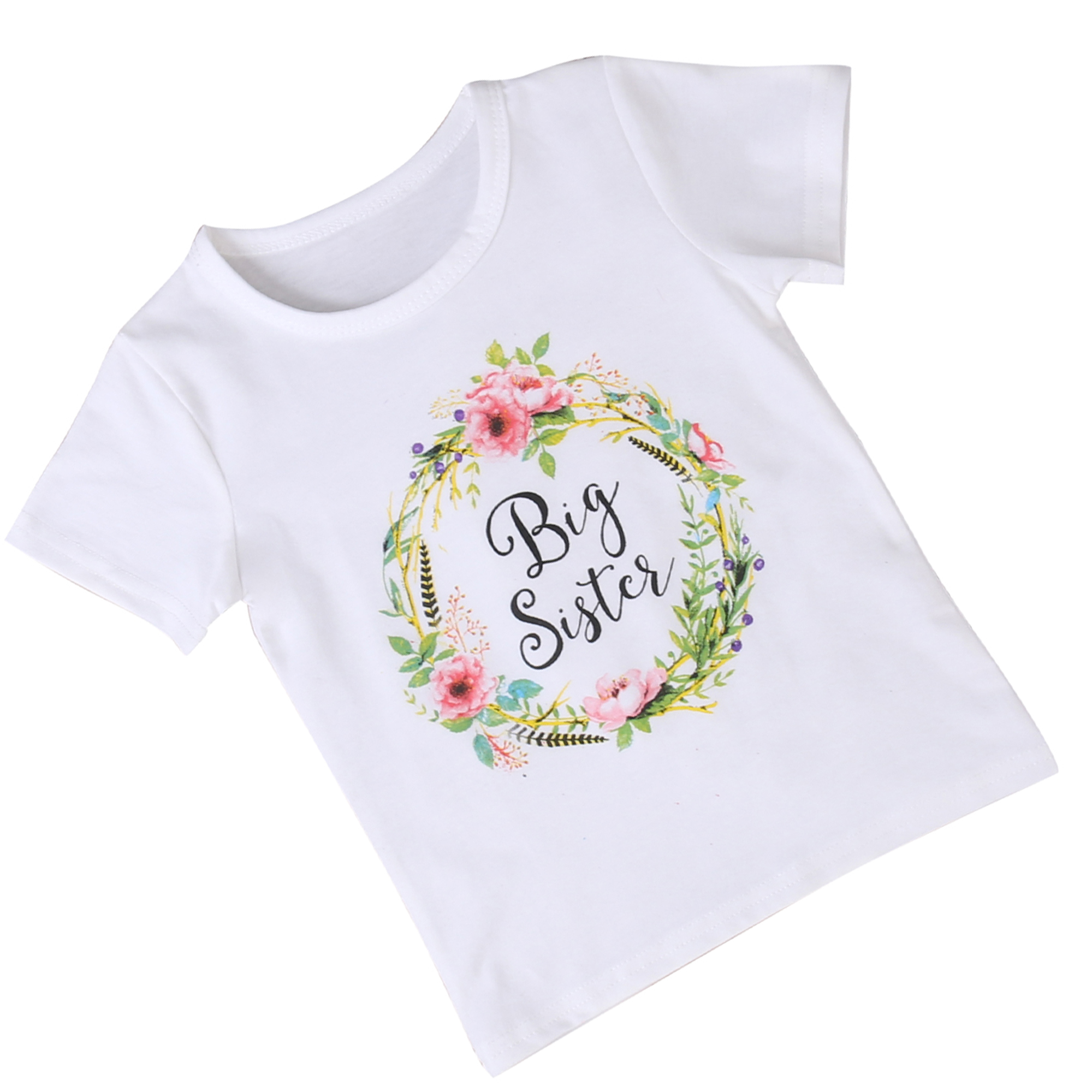 Soly Tech Little Big Sister Clothes Baby Girls Romper T-Shirt and Long Pants Set