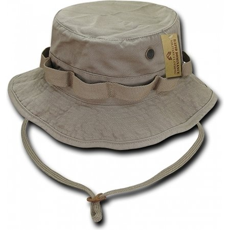RapDom Vintage Washed Jungle Mens Boonie Hat [Khaki - M] Boonie Hat Olive