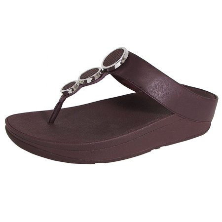 b6c46c5d475804 FitFlop - Fitflop Womens Halo Toe Thong Slide Sandal Shoes - Walmart.com