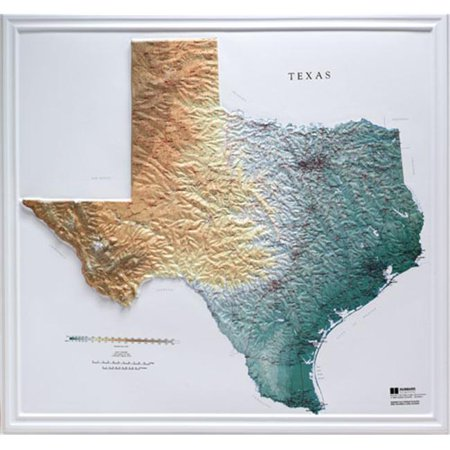 A Map Of The State Of Texas.Hubbard Scientific Raised Relief Map 954 Texas State Map