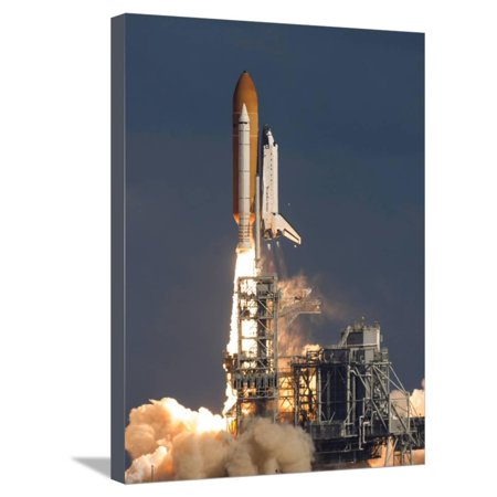 Space Shuttle Atlantis Clears the Tower at the Kennedy Space Center, Florida Stretched Canvas Print Wall