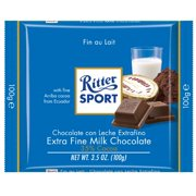 Ritter Sport Bars, Whole Fine Milk Chocolate, 3.5 Ounce (Pack of 12)