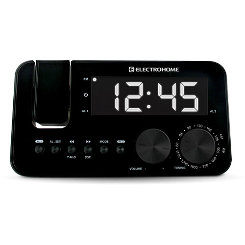 Electrohome SelfSet Clock Radio with WakeUp Technology and Projection