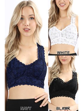 253e2c144d Product Image Women s Stretch Lace Bralette Hourglass Backing (Plus Size)