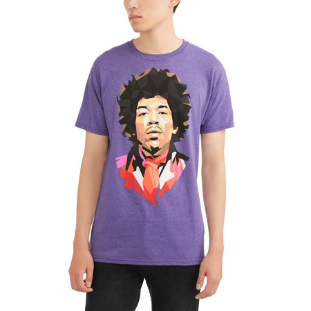 Poly Hendrix Men's Graphic T-Shirt, up to Size 3XL - Mens Poly Spandex