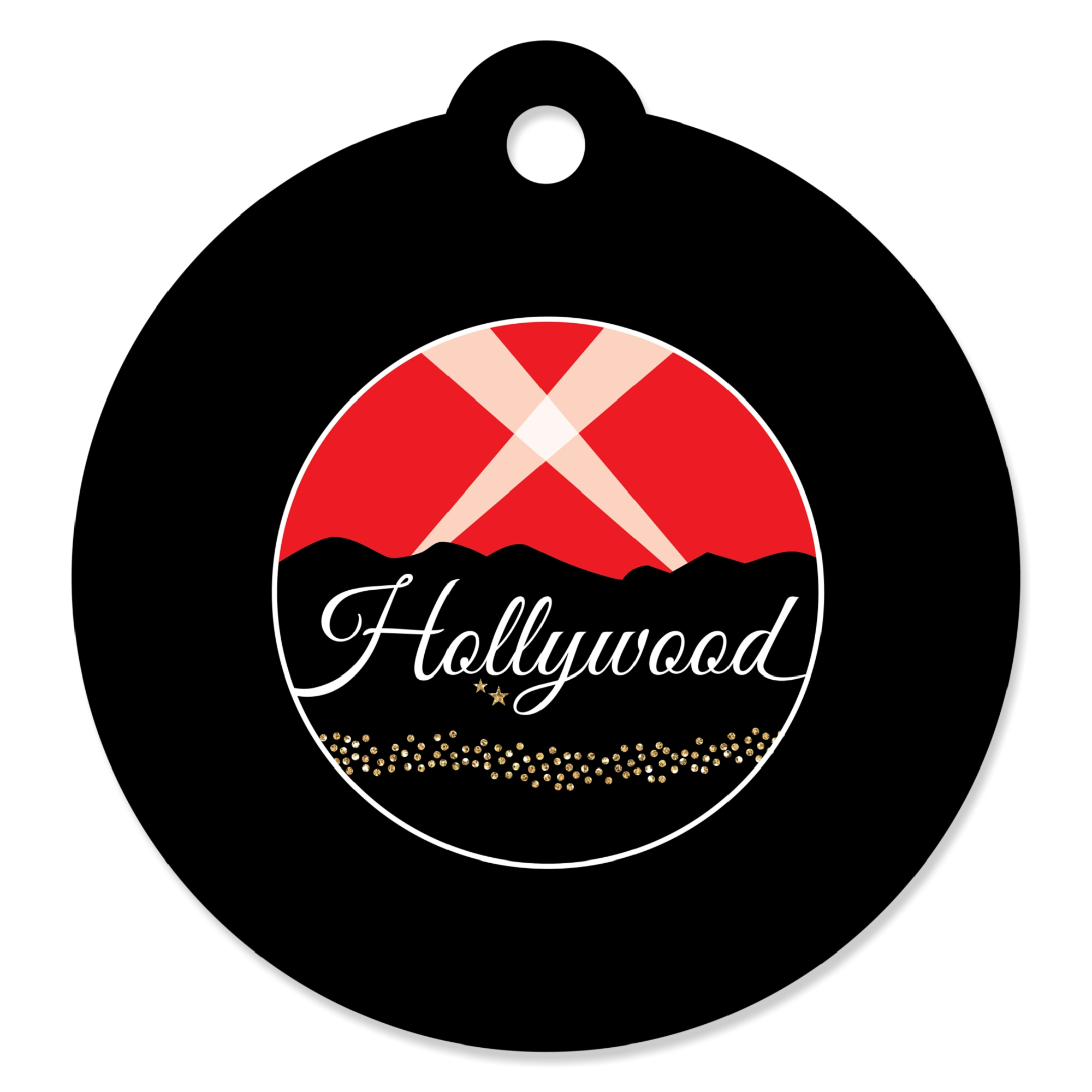Red Carpet Hollywood - Movie Night Party Favor Gift Tags (Set of 20)