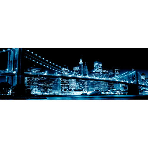 Blue Brooklyn Bridge I Wall Artwork by