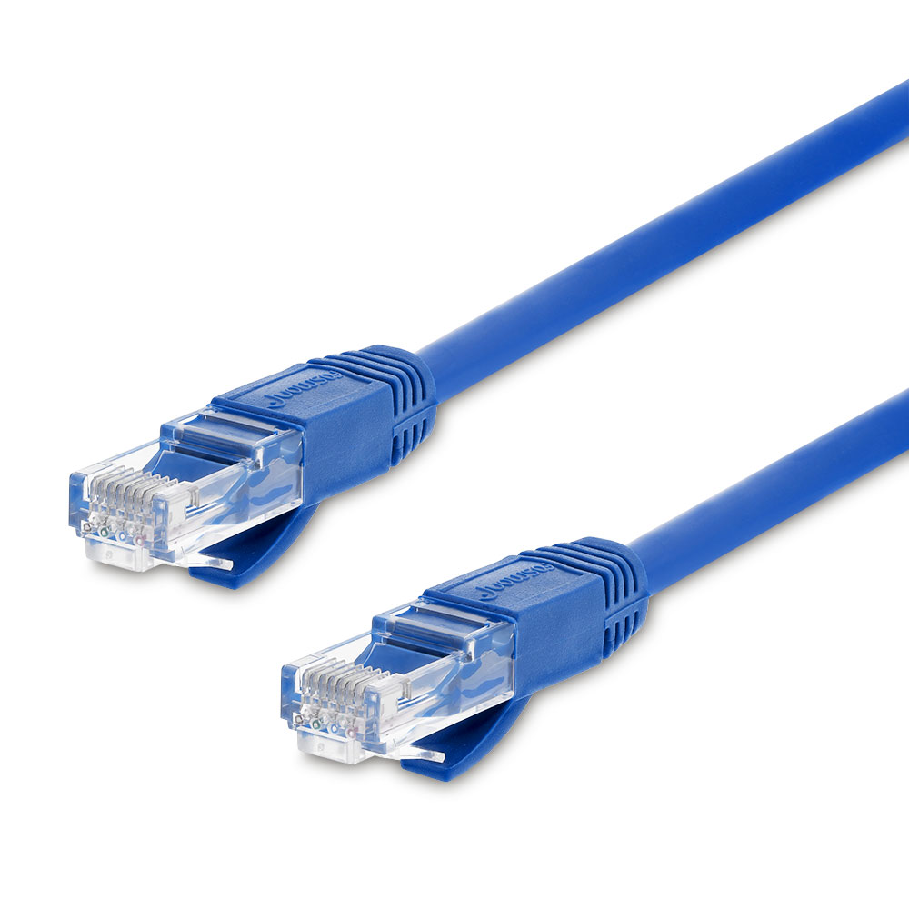 Fosmon 100FT Cat6 Ethernet LAN Networking Patch Cable (Blue)