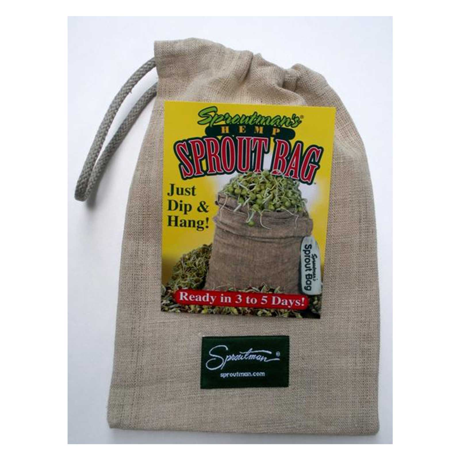 Sproutman Hemp Sprout Bag - Quantity 1 - Grow Sprouts
