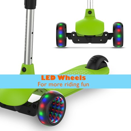 Gyrocopters- MiniMe Kids Kick Scooter with Adjustable Height and LED Wheels (Green) - image 7 of 12