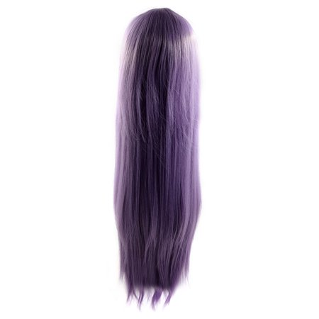 Light Purple 33.5 Inches Long Synthetic Cosplay Wig Straight Hair w/ Wigs - Long Purple Wig