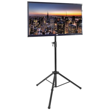 32 Channel Live Display - VIVO Black Tripod TV Display Floor Stand Height Adjustable Mount for 32