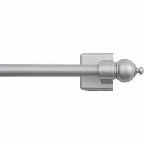 "Mainstays 16""-28"" Adjustable Magnetic Cafe Curtain Rod, Satin Nickel Finish by Generic"
