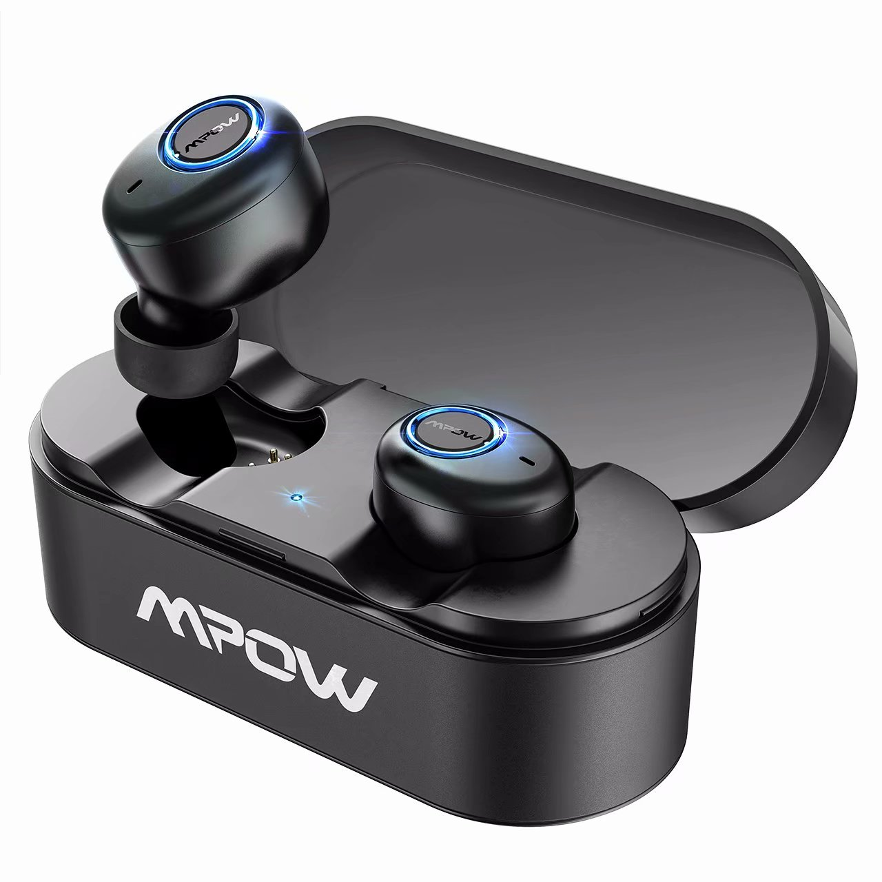 Mpow T1 True Wireless Bluetooth Earbuds, Bluetooth 5.0 Bluetooth Earbuds, One-step Pairing Earbuds with Charging Case and Built-in Mic for iPhone Android