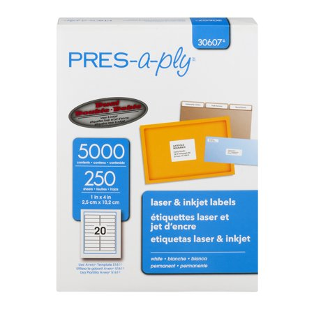 avery 30607 pres a ply laser inkjet labels 5000 ct5000 0 ct