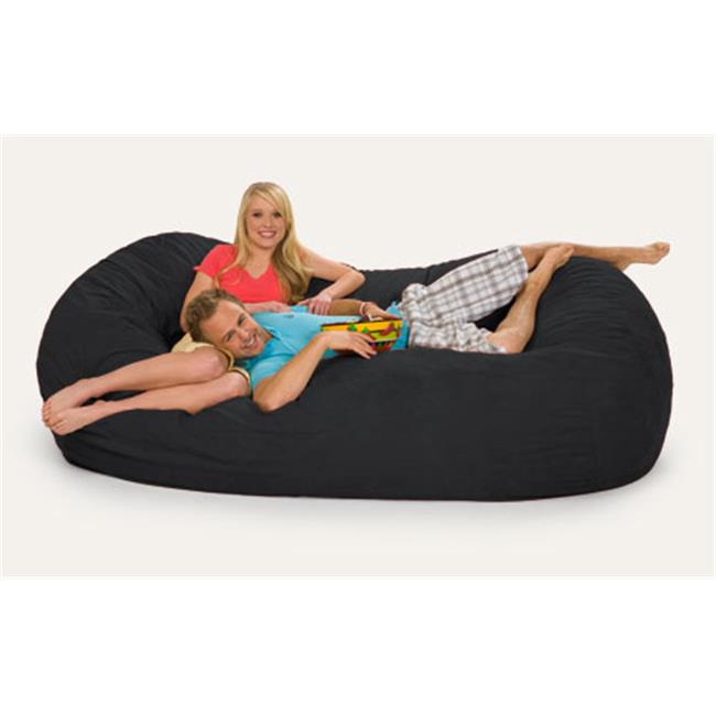 RelaxSacks 7OV-MS001 7.5 ft. RelaxSack Lounger - Microsuede Black