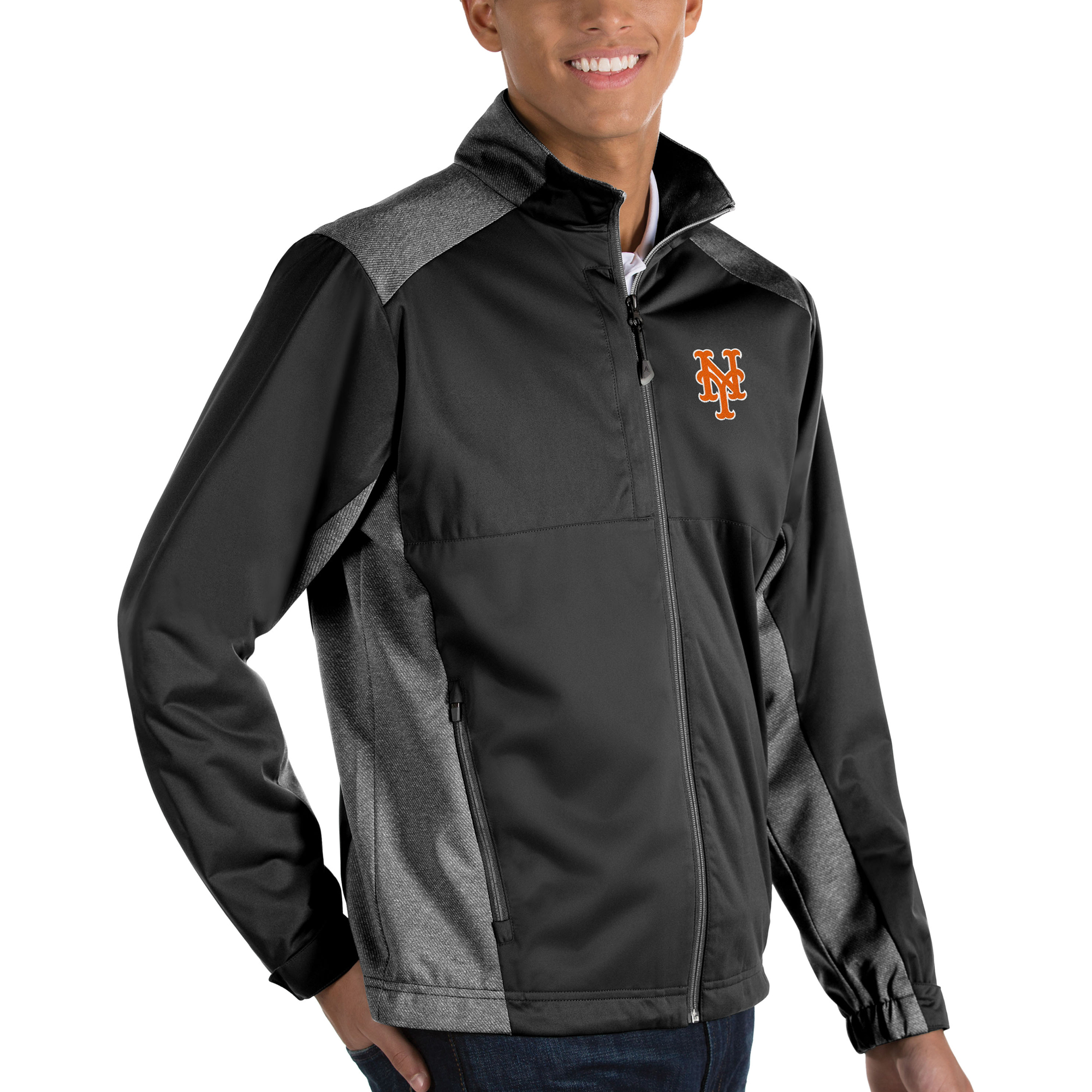 New York Mets Antigua Revolve Full-Zip Jacket - Black