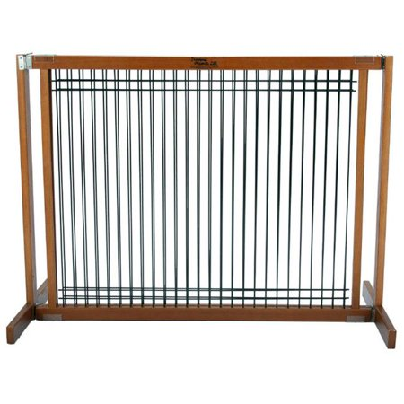 Dynamic Accents 42633 30 in. Large Kensington Wood-Wire Gate - Artisan Bronze