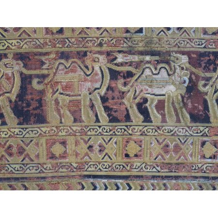 - Camels from Silk Fabric Made in Iran in First Half of 10th Century Print Wall Art
