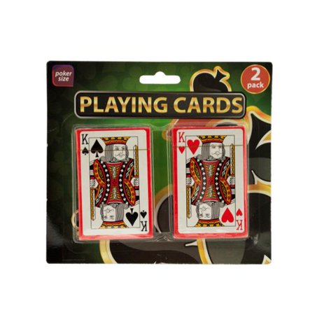 Bulk Buys NY020-96 Plastic Coated Playing Cards