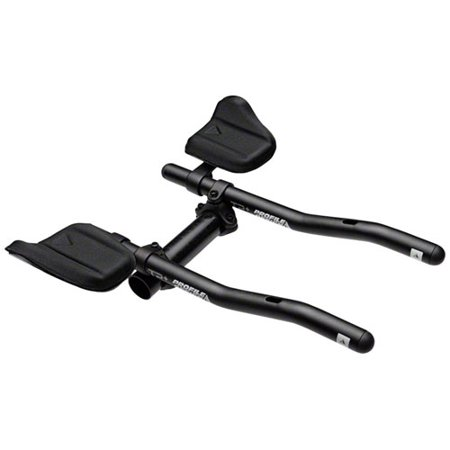 - Profile Design T2 Plus S-Bend Aluminum Aerobar: Long 320mm Extension with J2 Bracket and F-19 Armrest, Black