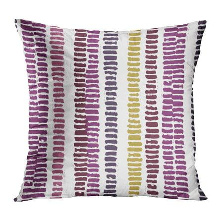 Wedding Color Palettes (ECCOT Calligraphic Brush Stroke Stripes Burgundy Color Palette Scandinavian Wedding Birthday Pattern Fills PillowCase Pillow Cover 18x18)