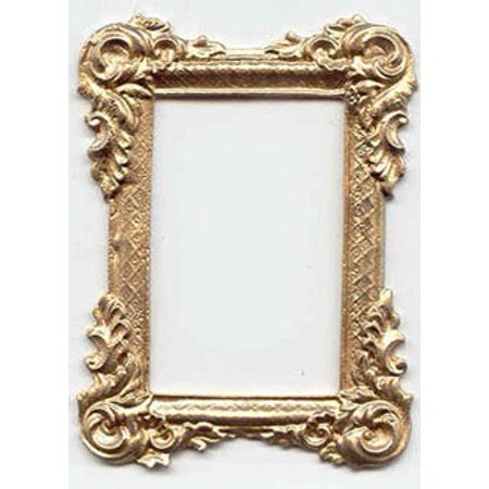 Dollhouse Gold Rectangle Victorian Frame