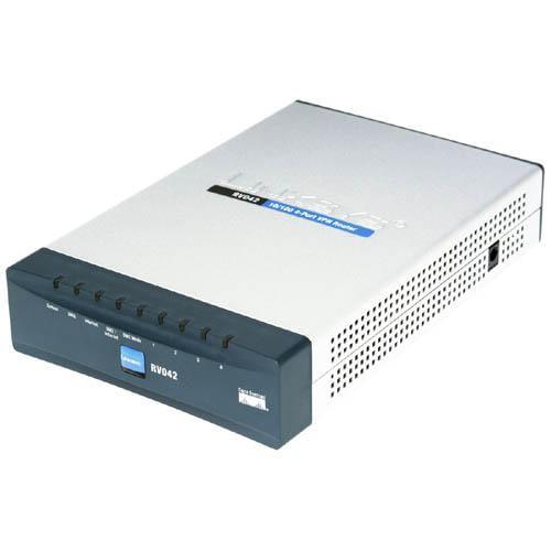 Cisco RV042 4-port Fast Ethernet VPN Router-Dual WAN 4 x 10 100Base-TX LAN, 1 x 10 100Base-TX WAN, 1 x 10 100Base-TX DMZ by Cisco