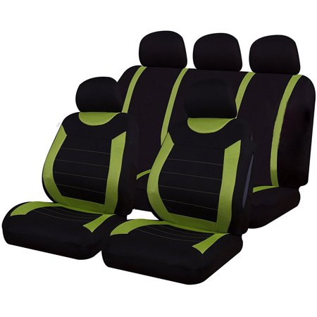 5 Seats Universal Car Inner Decoration Accessory Fine-quality Front Rear Mesh Auto Luxury Cloth Leather All The Year Round Four Seasons Seat Covers Automotive