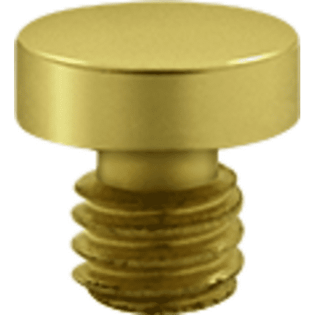Decorative Solid Brass Button Tip Cabinet Hinge Finials Polished Brass