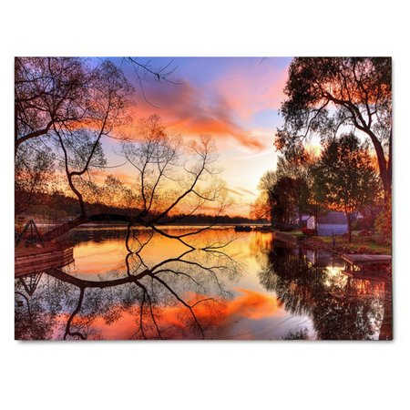 Moaere Luminous LED Lighted Light-up Canvas Sunset Art Picture Print Home Wall Decor Gift 40x30cm ()