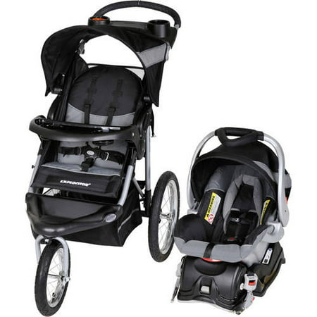 Baby Trend Expedition Jogger Travel System, Silver Cortina Keyfit 30 Travel System