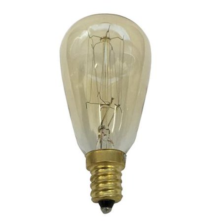 Antique 40w Vintage ST15 Edison Sylte 120v Candelabra Base Light Bulb Candelabra Base Miniature Light Bulb