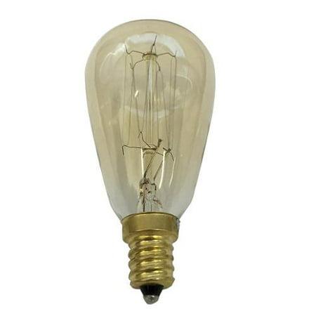 Antique 40w Vintage ST15 Edison Sylte 120v Candelabra Base Light Bulb