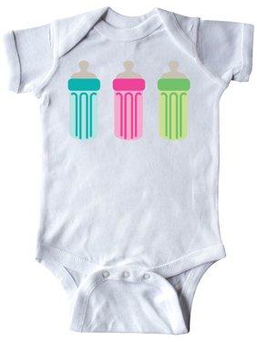 Baby Bottle Border Infant Creeper