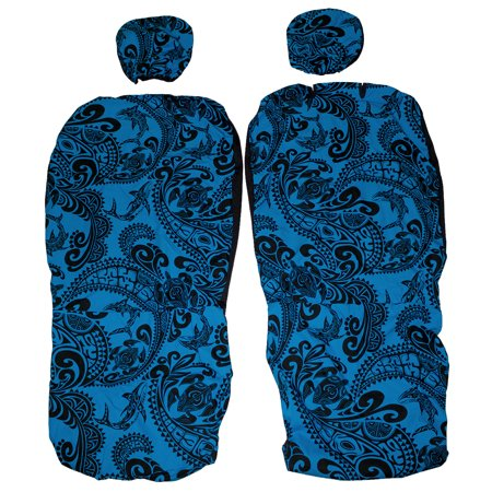 Prime Hawaiian Car Seat Covers With Separated Headrest Sea Turtle Tapa Set Of 2 Front Bucket Seat Covers Uwap Interior Chair Design Uwaporg