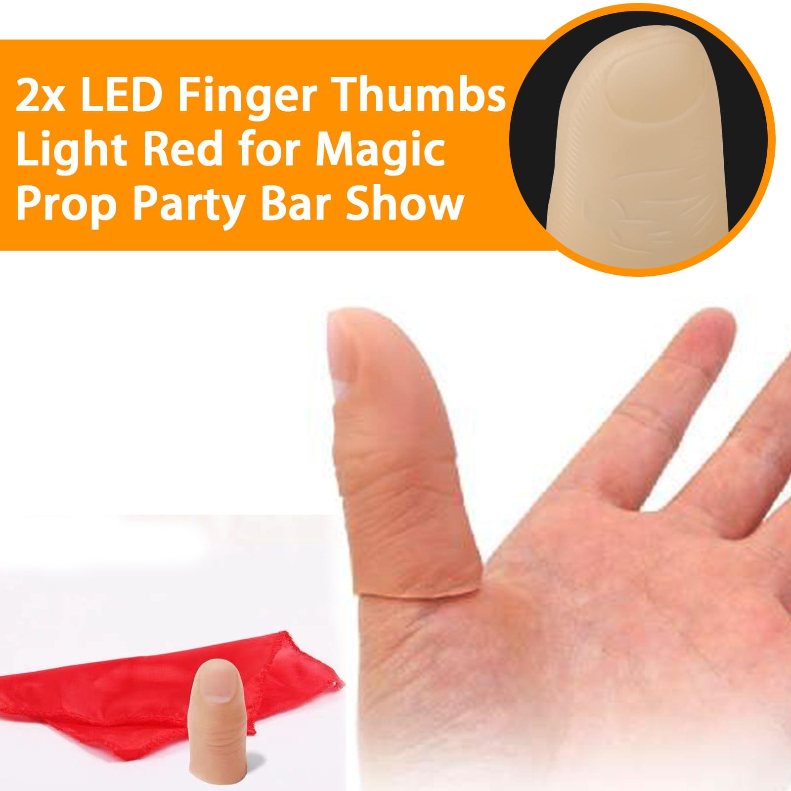1Pair Fashion LED Finger Thumb Light Magic Trick Party Bar Flashlight Magical