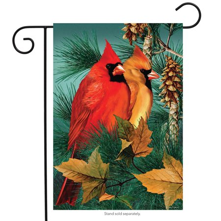 Autumn Splendor Cardinals Garden Flag Fall Birds 12.5