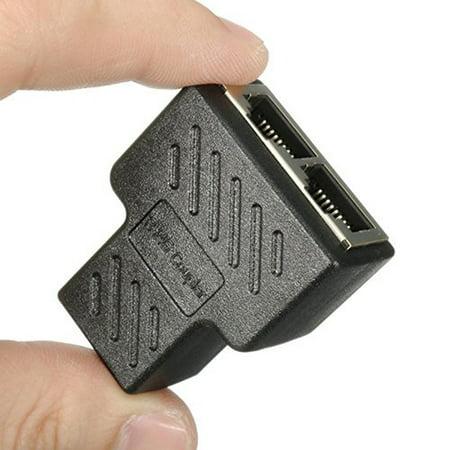 RJ45 Splitter Adapter 1 to 2 Dual Female Port CAT 5/CAT 6 LAN Ethernet Socket Splitter Connector Adapter ()