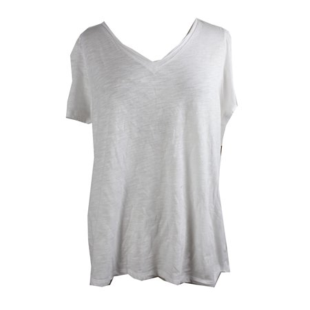3f3037e6def INC - Inc International Concepts Plus Size Bright White V-Neck T-Shirt 0X -  Walmart.com