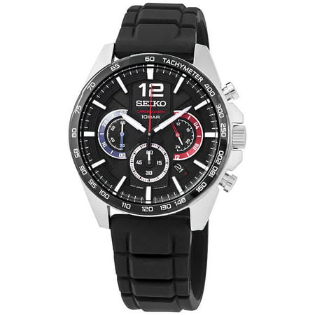 Seiko Chronograph Quartz Black Dial Men's Watch SSB347 Seiko Mens Alarm Chronograph