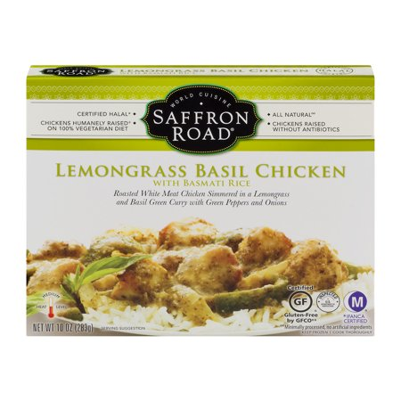 Saffron Road Lemongrass Basil Chicken with Basmati Rice, 10.0 OZ