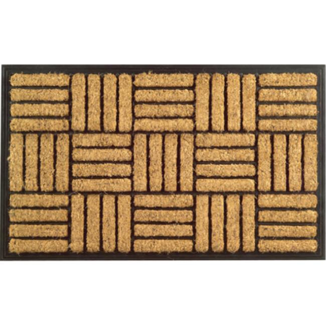 Imports Decor 701RBCM Rubber Back Coir Doormat, Basket Weave Pattern