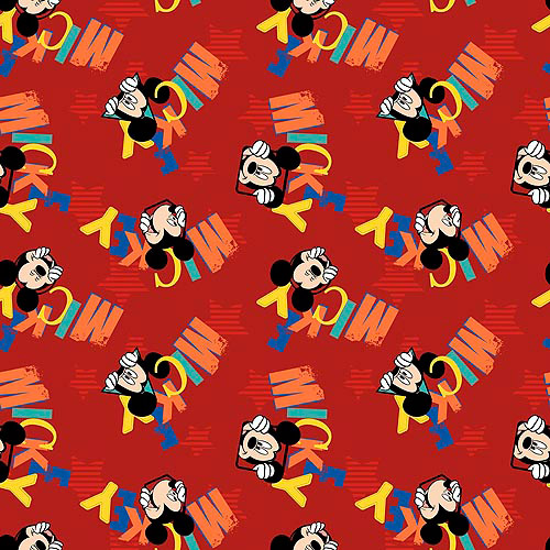 Springs Creative Disney Mickey Everyday Out To Play Word Toss Fabric by the Yard