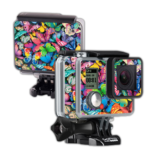 Skin For GoPro Hero – Butterfly Party | MightySkins Protective, Durable, and Unique Vinyl Decal wrap cover | Easy To Apply, Remove, and Change Styles | Made in the USA