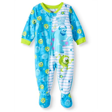 Monster's Inc Baby Boys' Microfleece Footed Blanket - Sully Monsters Inc Onesie