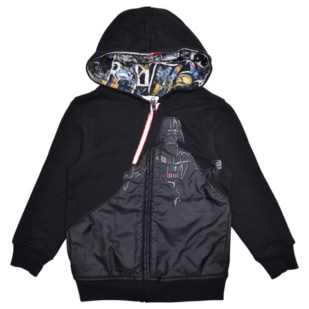 646734ee Star Wars - Star Wars Boys Darth Vader Zip Hoodie Jacket - Walmart.com