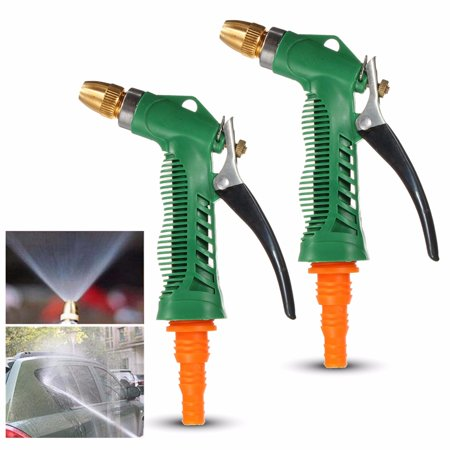 2 Pcs M Way Garden Hose Spray Gun Nozzle Sprayer Heavy Duty Metal Easy Flow Control Setting Ergonomic Trigger High Pressure Spary Nozzle For Car Washing  Plant Water 16 5 26 3Ft