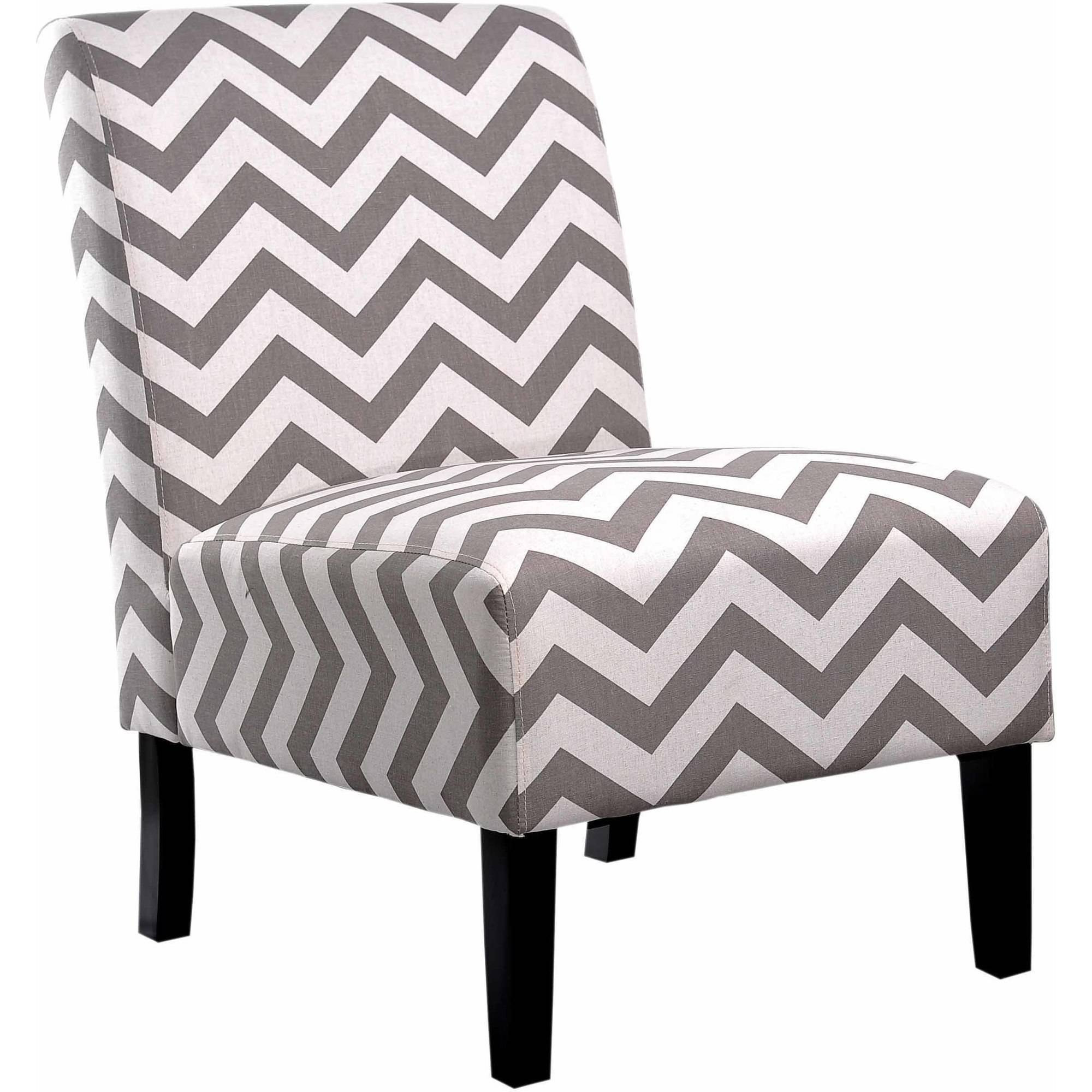 Nathaniel Home Katherine Chevron Accent Chair, Mulitple Colors